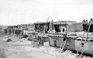 Street scene atSanto Domingo Pueblo by Frank A. Randall, 1883