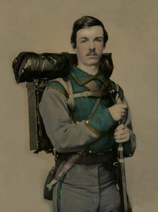 Unidentified Confederate soldier, by Charles Rees, 1861.