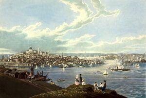 View of Boston from Dorchester Heights, by Robert Havell, 1841.