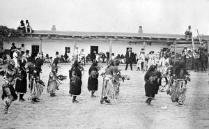 Harvest Dance at the Santo Domingo Pueblo, New Mexico