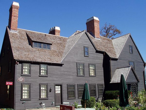House of the Seven Gables - Salem, Massachusetts. View of the house side, showing the oldest part of the house.