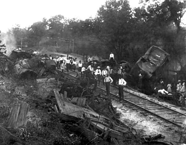 Kellyville train wreck aftermath
