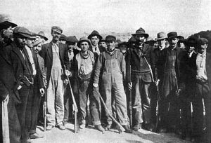 Armed mining strikers in Trinidad, Colorado
