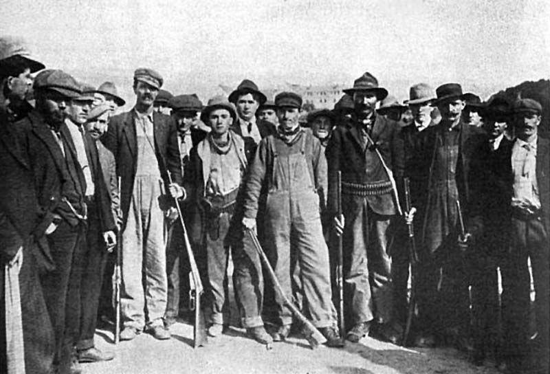 Armed mining strikers in Trinidad, Colorado