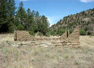 Old walls at Blossburg, New Mexico, 2010, courtesy New Mexico Archaeology