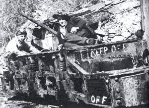 Coal miners at Brilliant, New Mexico