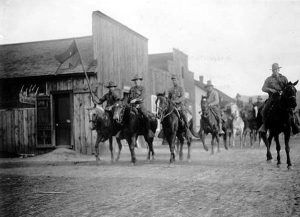Colorado National Guard at the townsite of Ludlow, Colorado