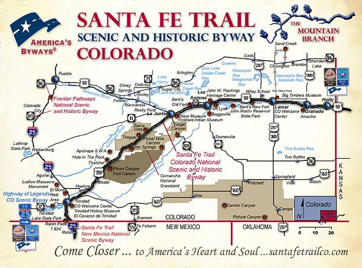 The Santa Fe Trail in Colorado – The Mountain Route ...