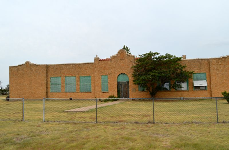 The old 1930 school in Conway, Texas is boarded up today, Kathy Weiser-Alexander, 2018.