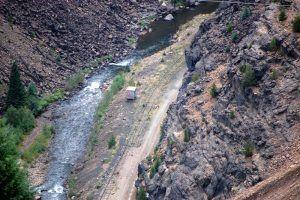 Eagle River Canyon below Gilman, Colorado by Dave Alexander