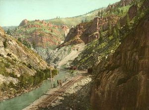 Denver and Rio Grande Railway in Eagle River Canyon, Detroit Photographic