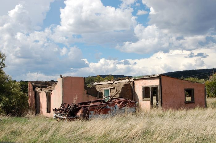 Old homestead in Folsom, New Mexico by Kathy Weiser-Alexander, 2008.