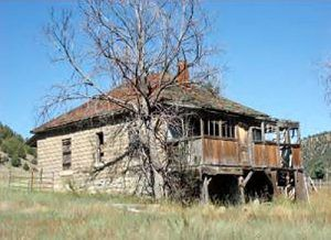 An old house in Gardiner, New Mexico courtesy New Mexico Archaeology