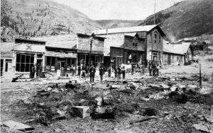 Gilman, Colorado after the 1899 fire