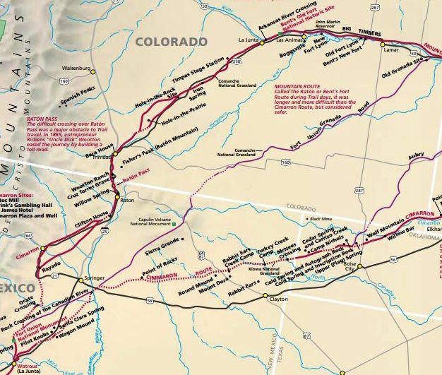 Granada-Fort Union Road Map