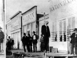 The hanging of Gus Mentzer, Raton, New Mexico