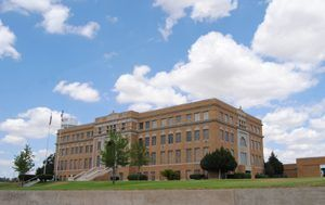 Hutchinson County Courthouse in Stinnett, Texas by Kathy Weiser-Alexander.