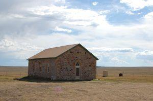 Johnson Mesa Church, New Mexico by Kathy Weiser-Alexander.