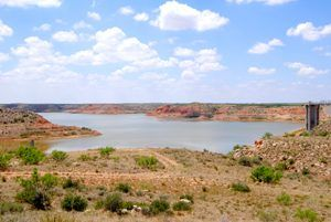 Lake Meredith down some 78 feet from its peak in 1973 in this photo from 2013. Kathy Weiser-Alexander