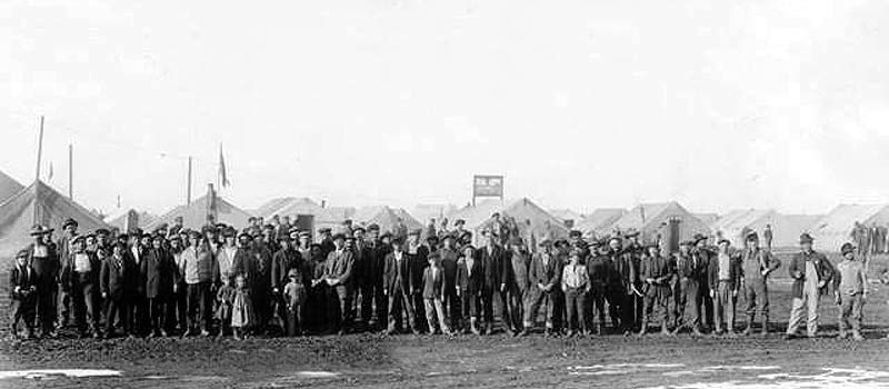 Strikers at the Ludlow, Colorado Tent Colony
