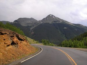 Million Dollar Highway between Silverton and Ouray, Colorado, by Kathy Weiser-Alexander.