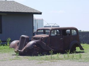 Old car in Conway, Texas, Kathy Weiser-Alexander, 2004.