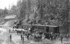 The railroad at Silverton, Colorado.