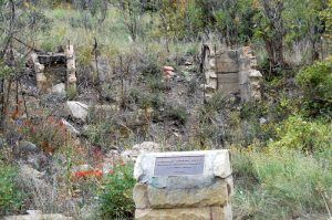 Ruins of the old Sugarite School House, by Kathy Weiser-Alexander.