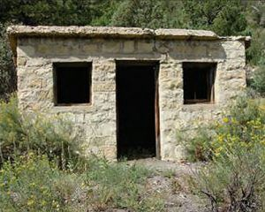 An old mine structure at Swastika, New Mexico