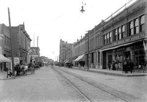 Main Street in Trinidad, Colorado in about 1910