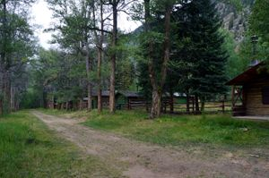 Cabins that have been continually used since construction in the 1880s. Vicksburg, CO