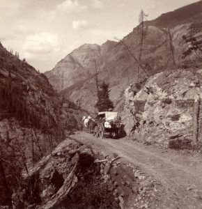 Toll Road between Silverton and Ouray, Colorado
