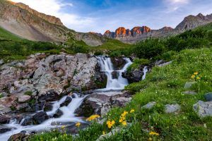 Waterfall at the American Basin in Colorado, courtesy James Harris Photography