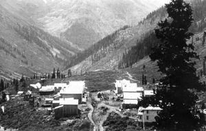 Animas Forks, Colorado in about 1800.