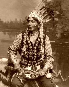 Branching Horns, Ho-chunk Warrior by Henry H, Bennett, 1905