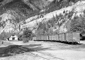 Denver & Rio Grande Railroad in Ouray, Colorado by Russell Lee, 1940