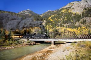 The Durango & Silverton Railroad in the Fall by Carol Highsmith.