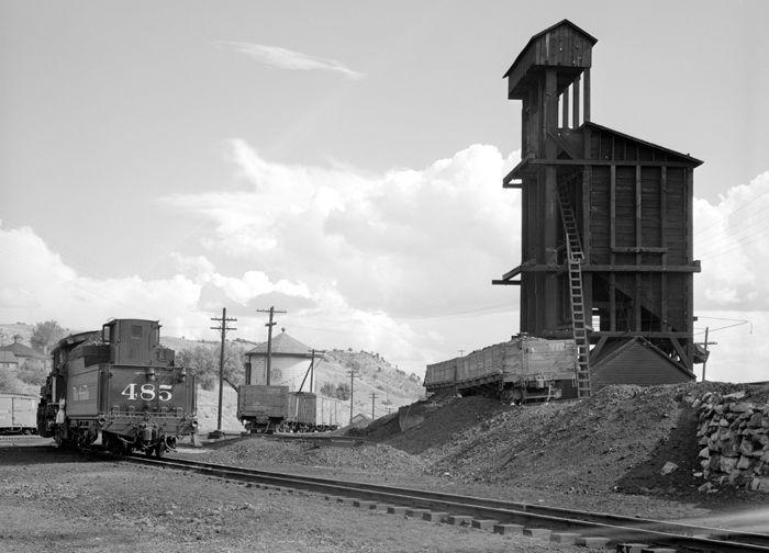 Durango, Colorado railyard by Russell Lee, 1940.