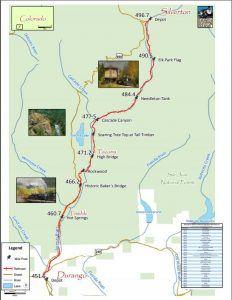Durango & Silverton Railroad Map