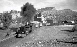 Denver & Rio Grande Railroad in Durango by Robert Richardson, 1951.