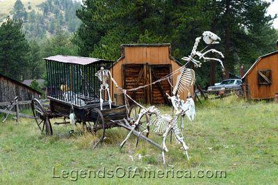 The Skeleton Crew at the Guffey Jail, photo by Kathy Weiser-Alexander.
