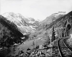 Silverton Railroad Horseshoe Curve above Chattanooga, Colorado