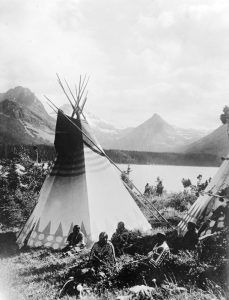 Indian tipi in Rocky Mountain National Park.