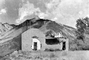 The ruins of the Lee Mansion in Capitol City, Colorado in 1960.