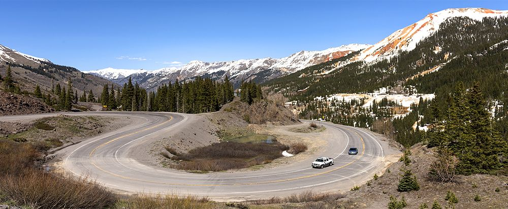 Million Dollar Highway between Silverton and Ouray by Carol Highsmith.