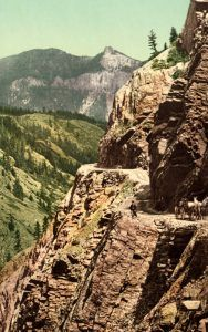 Ouray Toll Road, by Detroit Photographic Co., 1900