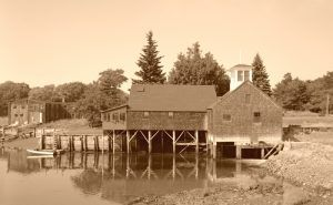 Perkins Tide Mill, located on Mill Lane in Kennebunk, Maine, by Jack Boucher, 1965