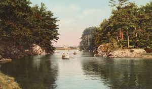 Picnic Rocks on the Kennebunk River, Maine, Detroit Publishing, 1900