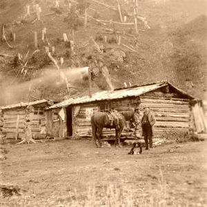 Red Mountain Town, Colorado Post Office by the American Stereoscopic Company, 1901