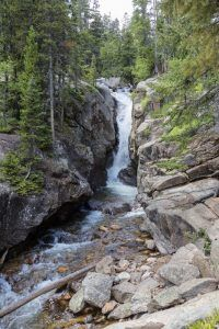 Waterfall at the Rocky Mountain National Park by Carol Highsmith.